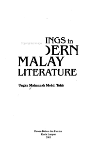 Readings in Modern Malay Literature PDF