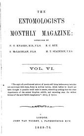 The Entomologist's Monthly Magazine: Volumes 6-7