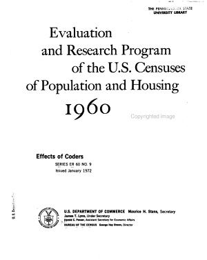 Evaluation and Research Program of the U S  Censuses of Population and Housing  1960 PDF