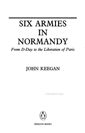 Six Armies in Normandy PDF