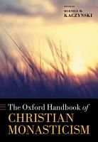 The Oxford Handbook of Christian Monasticism PDF