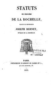 Statuts du diocèse de La Rochelle