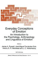 Everyday Conceptions of Emotion PDF
