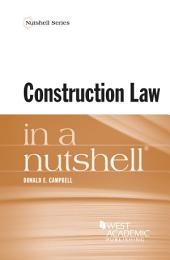 Construction Law in a Nutshell