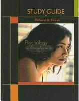 Study Guide for Psychology in Everyday LIfe PDF