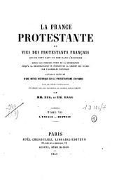 La France protestante ou vies des protestants français qui se sont fait un nom dans l'histoire, depuis les premiers temps de la réformation jusqu'à la reconnaissance du principe de la liberté des cultes par l'Assemblée nationale: L'Escale-Mutonis