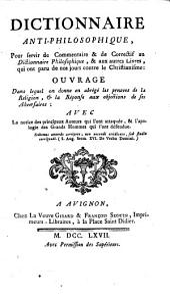 Dictionnaire anti-philosophique