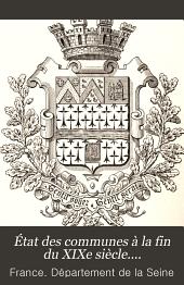 État des communes à la fin du XIXe siècle....: Volume14