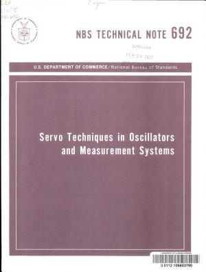 Servo techniques in oscillators and measurement systems PDF