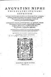 Expositio super octo Aristotelis libros de phys. auditu