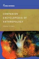 Companion Encyclopedia of Anthropology PDF