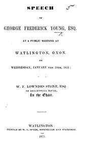 Speech [against Free Trade] ... at Watlington, Oxon., etc