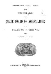 Report of the Secretary: Volume 23