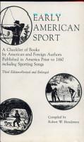 Early American Sport PDF