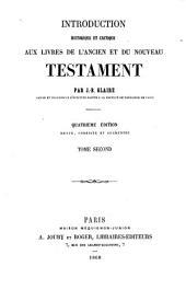 Introduction historique et critique aux livres de l'Ancien et du Nouveau Testament: Volume2