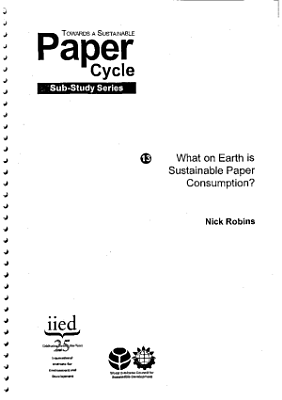 What on Earth Is Sustainable Consumption    8074iied PDF
