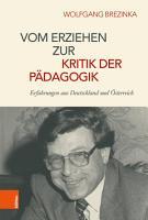 Vom Erziehen zur Kritik der P  dagogik PDF