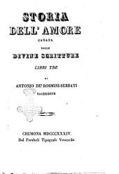 Storia dell'amore cavata dalle Divine Scritture libri tre di Antonio de' Rosmini-Serbati