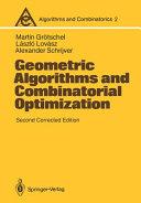 Geometric Algorithms and Combinatorial Optimization PDF