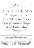Six Anthems etc PDF