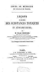 Leçons sur les effets des substances toxiques et médicamenteuses