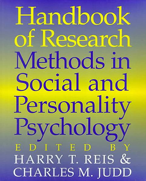 Handbook of Research Methods in Social and Personality Psychology PDF