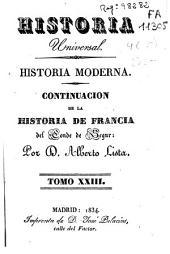 Historia moderna: Continuacion de la histroia de Francia, Volumen 23