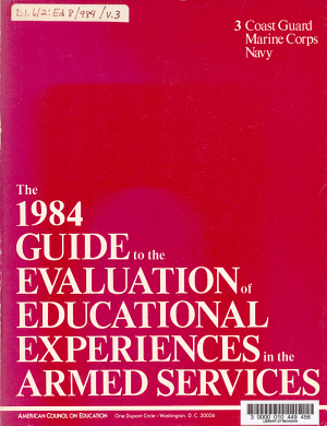 The 1980 Guide to the Evaluation of Educational Experiences in the Armed Services  Coast Guard  Marine Corps  Navy  Dept  of Defense PDF