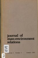 Journal of Man environment Relations PDF