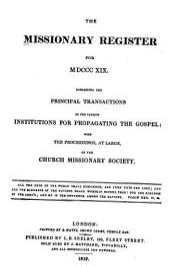 Missionary Register: Volume 7