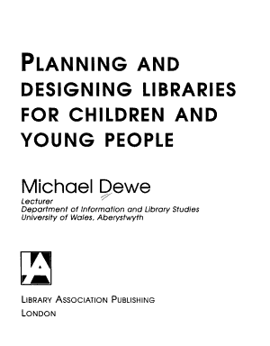 Planning And Designing Libraries For Children And Young People