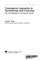 Contemporary Approaches to Psychotherapy and Counseling PDF