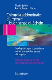 Chirurgia addominale d'urgenza: il buon senso di Schein: Guida pratica per sopravvivere nella trincea delle urgenze chirurgiche