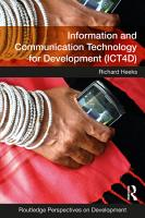 Information and Communication Technology for Development  ICT4D  PDF