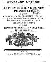 Nvmerandi methodi sive arithmeticae omnes possibiles e qvibvs cvm dyadica conseqventes plvrimae vsqve ad dvodenariam evolvvntvr