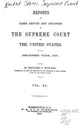 Reports of Cases Argued and Adjudged in the Supreme Court of the United States: Volume 20