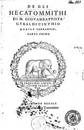De gli Hecatommithi: Volume 1
