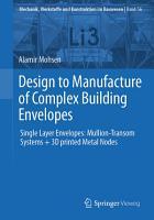 Design to Manufacture of Complex Building Envelopes PDF