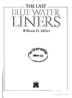 The last blue water liners PDF