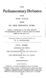 The Parliamentary Debates From The Year 1803 To The Present Time 14 Book PDF
