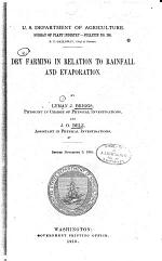 Dry Farming in Relation to Rainfall and Evaporation
