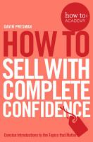 How To Sell With Complete Confidence PDF