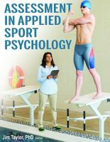 Assessment in Applied Sport Psychology PDF