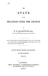 The State in Its Relations with the Church: Volume 2