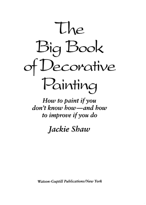 The Big Book of Decorative Painting PDF