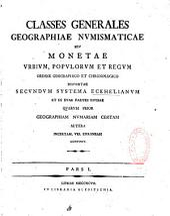 Classes generales geographiae numismaticae