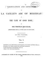 Verification and Extension of La Caille s Arc of Meridian at the Cape of Good Hope PDF