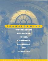 Transforming Undergraduate Education in Science  Mathematics  Engineering  and Technology PDF