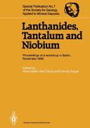 Lanthanides  Tantalum and Niobium