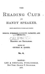 The Reading Club and Handy Speaker: Volume 4